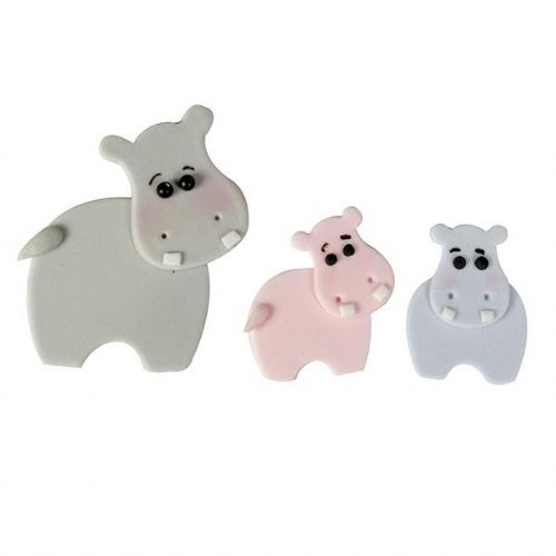 FMM Hippo Mummy & Baby Cutters - Set of 4